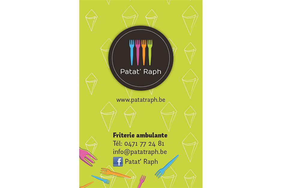 carte de visite Patat Raph Namur