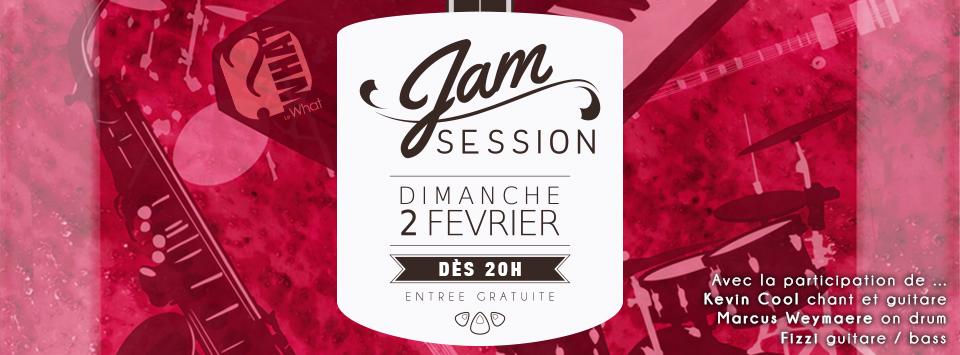 Jam Session au What – Affiche de soirée et bannière