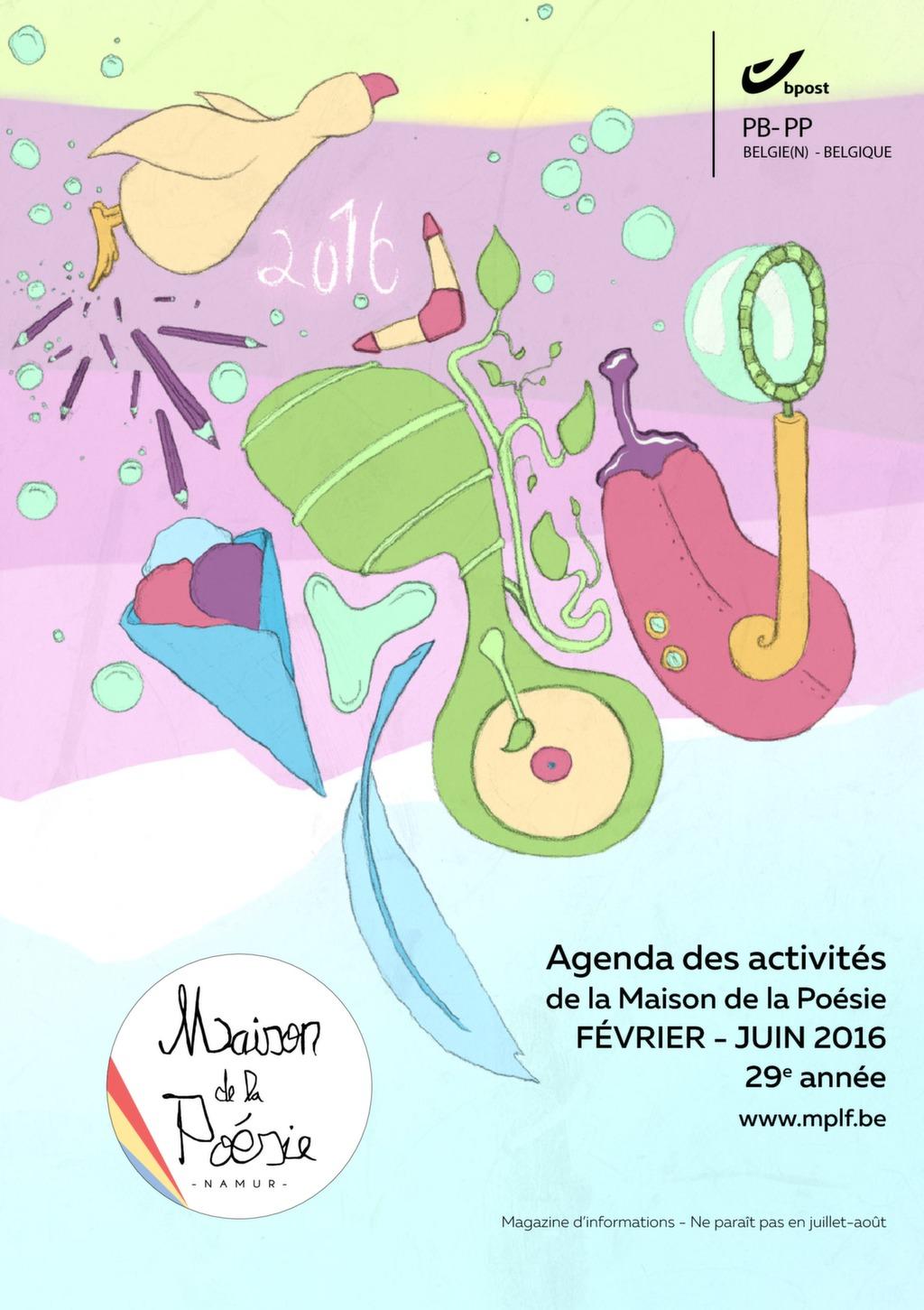 Agenda de la Maison de la Poésie de février à juin 2016 (lecture PDF)